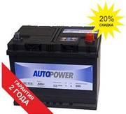 AUTOPOWER Аккумулятор 68Ah 56804 (STD - +) 261х175х220